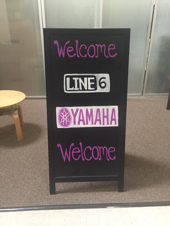 Line 6 Yamaha clinic tour